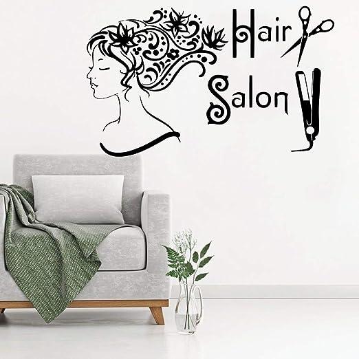 Tatuajes de pared Salón de belleza Cabello Spa Moda Chica de mujer ...
