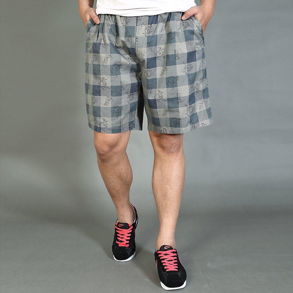 Chickle Mens Camo Plaid Ripstop Cargo Shorts L Grey