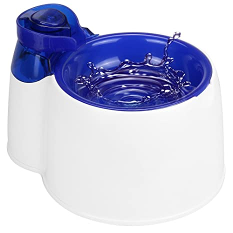 Fuente de agua automática para mascotas MW, Fuente de agua filtrada eléctrica sin BPA con luz LED, Dispensador ...