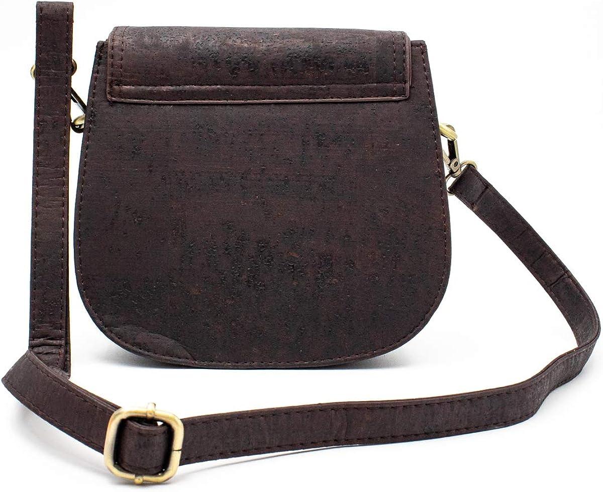 Vegan-friendly Bag Brown Cork Vegan Crossbody Bag Purse |Trending Design BAG-274-C Eco-Friendly