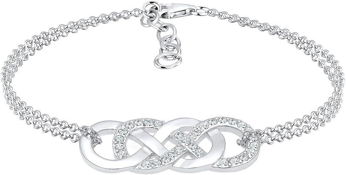 Elli - Bracelet Femme - Argent 925/1000 Cristal