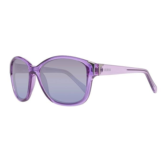 Guess GU7324-57O62 Gafas de Sol, Morado, 57 para Mujer ...