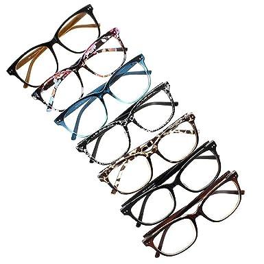 e502afd3dec Oversized Eyeglasses Square Large Lenses Stars Pattern Reading Glasses  Readers (All 7 Colors