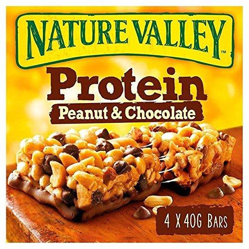 Advanced Protein Bar Peanut Butter - NatureValley Protein Bars Peanut Butter & Chocolate - 4 x 40g (0.35lbs)