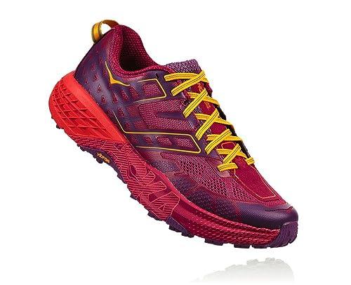 Hoka One One Speedgoat 2 Woman Shoes Running, Red (Cherriesjubilee/purplepas) 38 2/3 EU: Amazon.es: Zapatos y complementos
