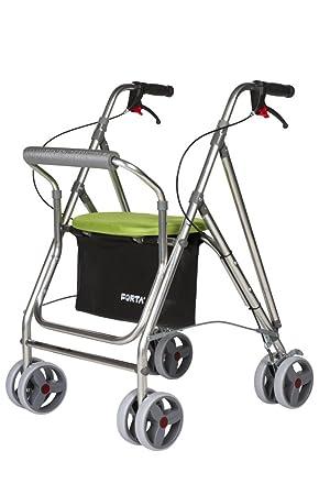 Andador para ancianos plegable, de aluminio con 8 ruedas ultraligero y resistente (Pistacho): Amazon.es: Salud y cuidado personal