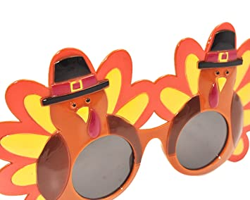 76918a9a1c69 ACE SELECT Creative Turkey Glasses Novelty Party Sunglasses Thanksgiving  Eyeglasses Cartoon Sunglasses Eye Glasses for Thanksgiving