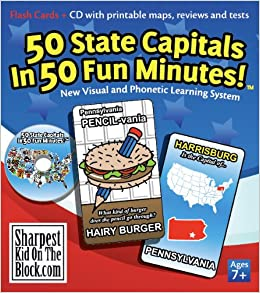 photo relating to 50 States Flash Cards Printable known as 50 Country Capitals in just 50 Exciting Minutes!: Ken Bradford