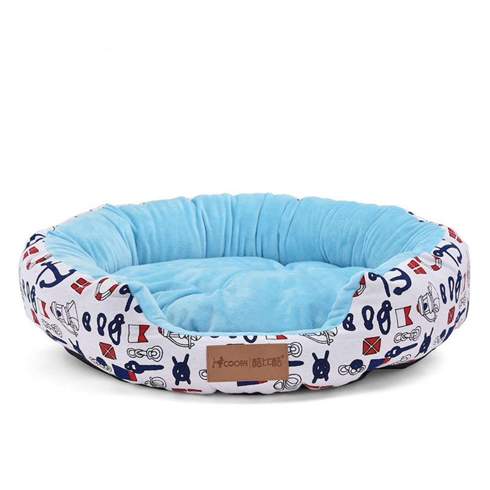 bluee MediumPet Bed Deluxe Soft Washable Dog Pet Warm Basket Bed Cushion with Dog Bed Cat Bed for Small Medium & Large Dogs (color   bluee, Size   Medium)