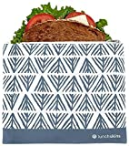 Best Glad Grocery Bags - Lunchskins Reusable Zippered Sandwich Bag, Blue Geometric Review