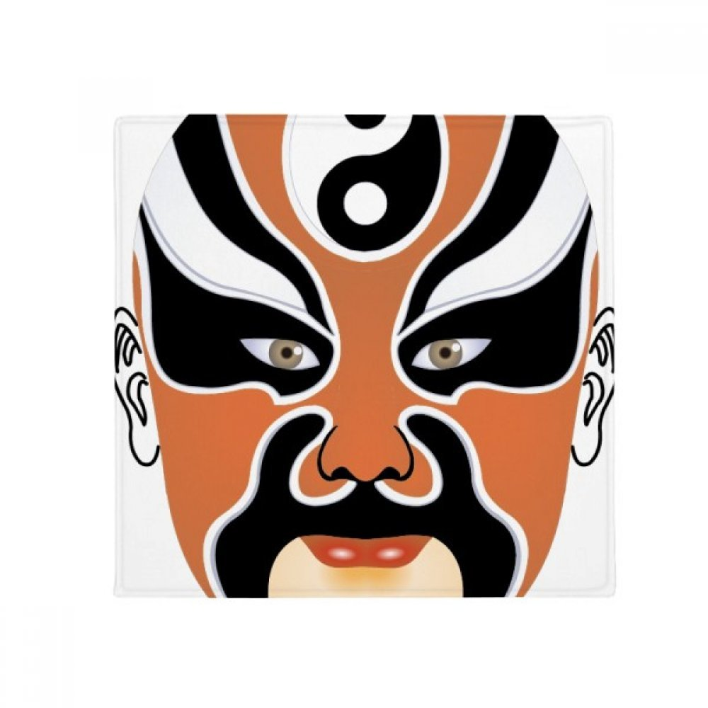 DIYthinker colorful Beijing Opera Mask Pattern Anti-Slip Floor Pet Mat Square Home Kitchen Door 80Cm Gift