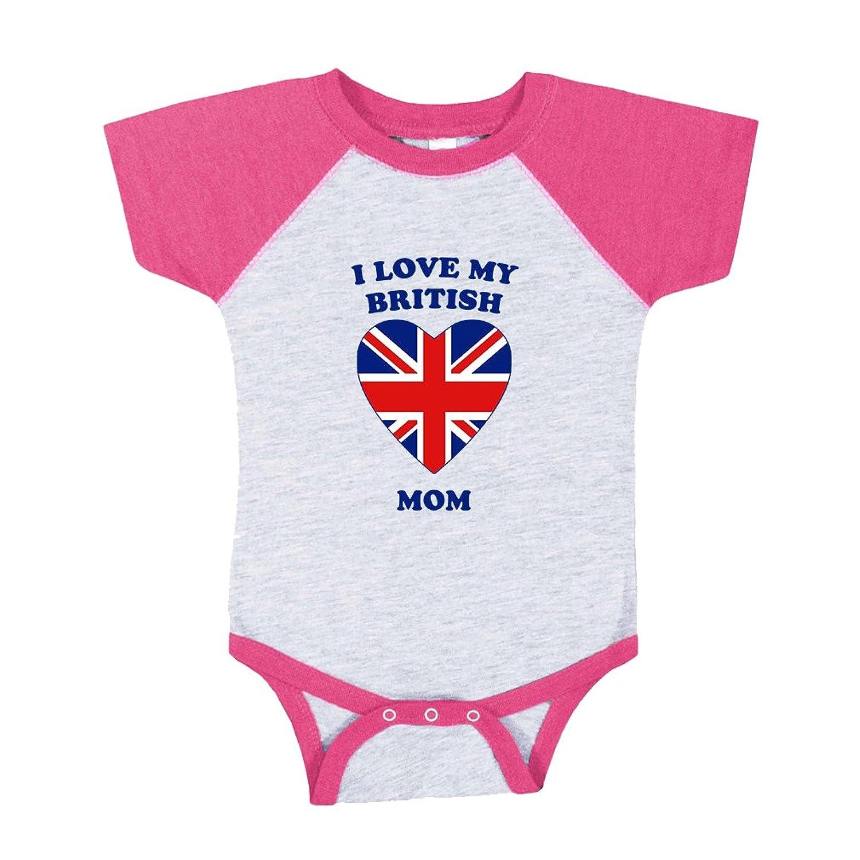 Amazon Cute Rascals I Love My British Mom Baby Sport Raglan