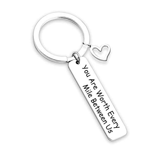 c941b29043 TOGON Anniversary Keychain Long Distance Relationship Gifts Couples Keychain  Going Away Gift Military Jewelry Gift Deployment