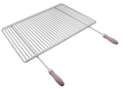 Parrilla en acero inoxidable europea de anchura ajustable 65-90x45cm ...