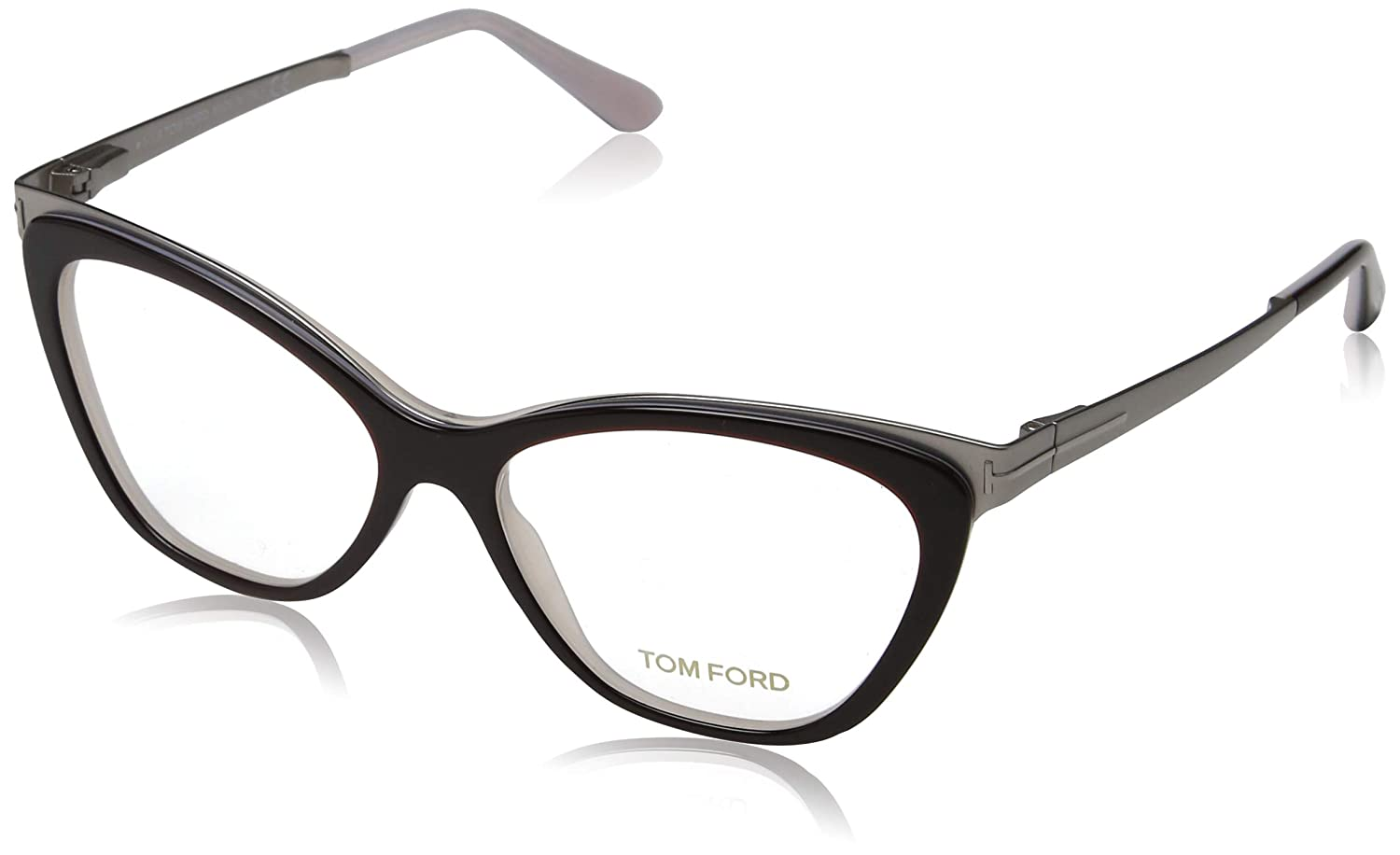 ec869b32582 Eyeglasses Tom Ford TF 5374 FT5374 050 dark brown other at Amazon Men s  Clothing store