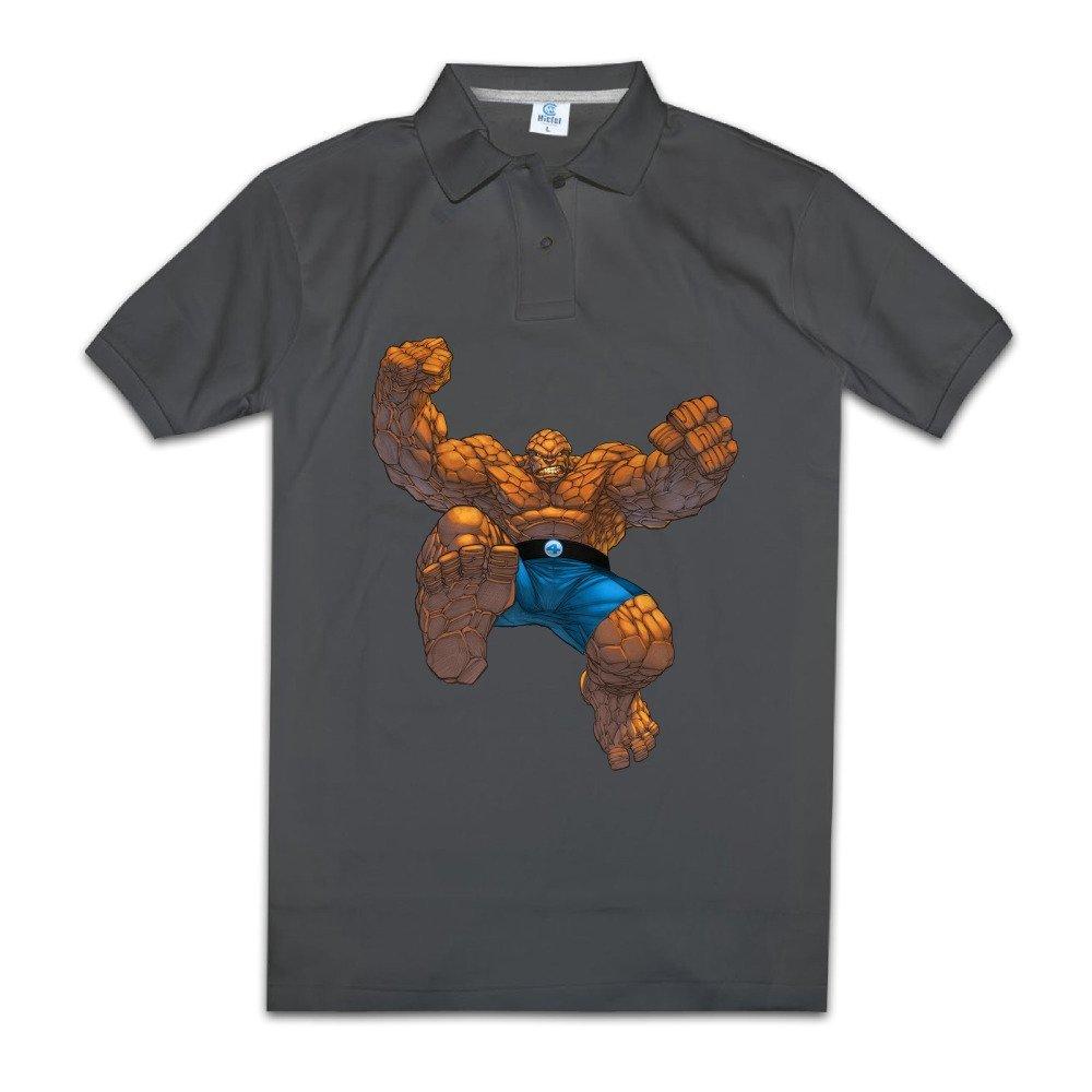 SARHT Men's Fantastic Four The Thing Ben Grimm Polo Shirt White