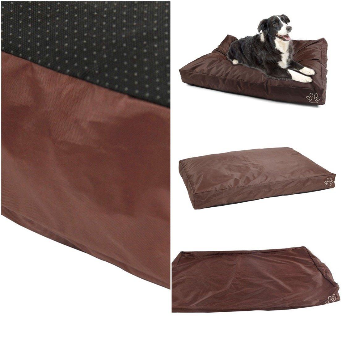 1Pcs Sumptuous Popular Pet Bed Cover Size XL 48'' x 29'' Cat Pillow Soft Zipper Color Type Brown Oxford