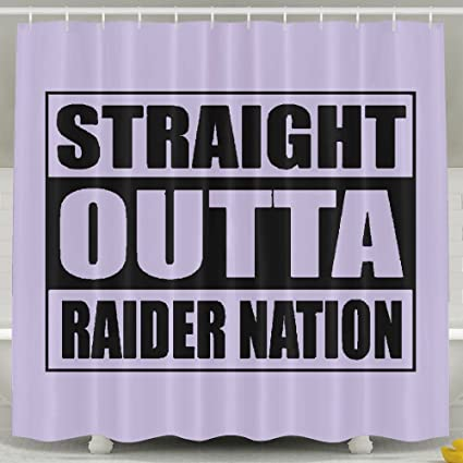 TRUSTINEEgyl Straight Outta Raider Nation Decorative Polyester Fabric Shower Curtain Waterproof Antibacterial And Eco