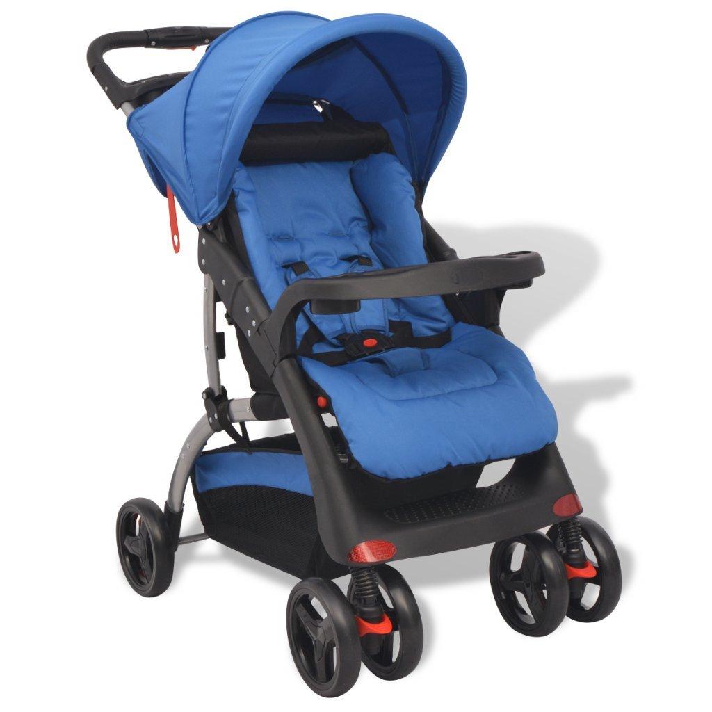vidaXL Buggy Kinderwagen Sportwagen Babywagen Kinderbuggy Blau 102 x 52 x 100 cm