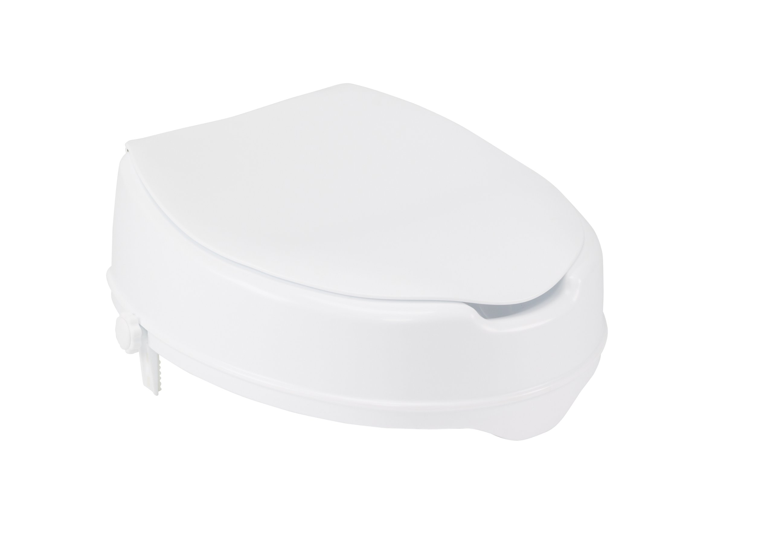 Drive Medical Raised Toilet Seat with Lock and Lid, Standard Seat, 4''