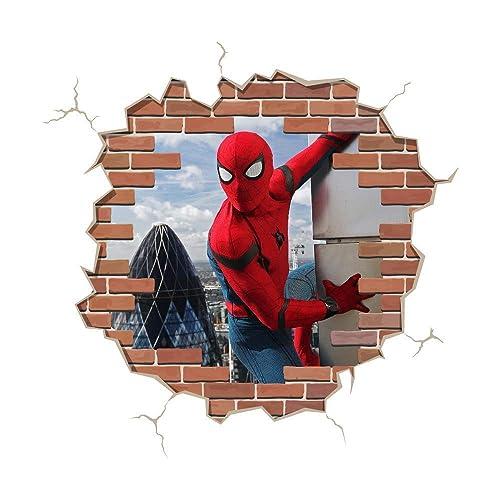 Spiderman Removable Kids Wall Art Stickers Vinyl Decal  Boys Decor Spider-Man