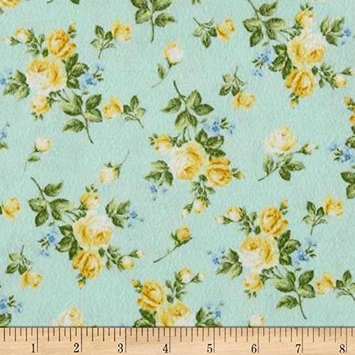 Afternoon In The Attic Flannel Heirloom Floral Daffodil Fabric By The (Attic Fabric)