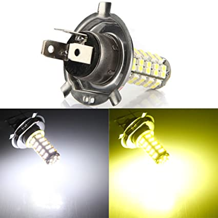 EMVANV - Luces LED SMD para Coche H4 3,5 W 68 SMD LED 6500