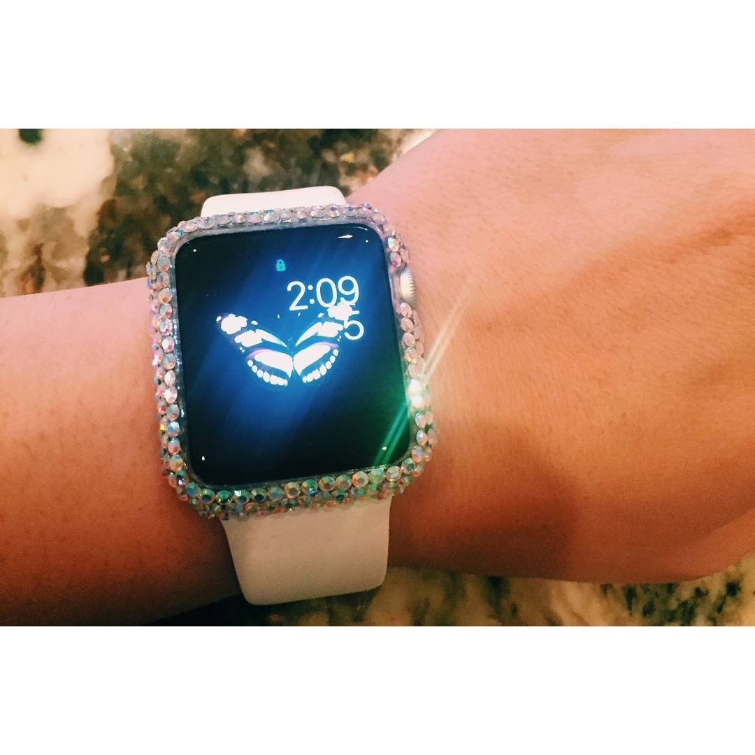 Amazon.com: Swarovski Rhinestone Apple Watch Frame: Handmade