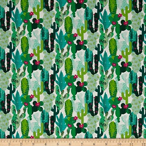Stof Fabrics of France Cactus Yard, Multicolor