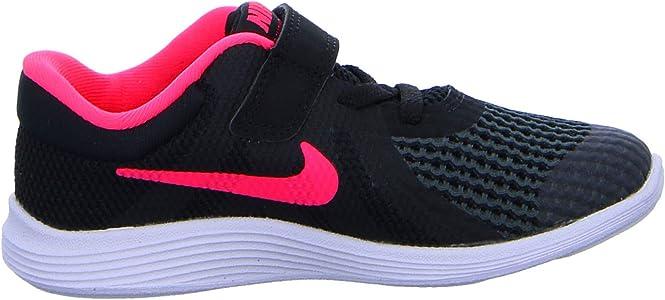 Nike Revolution 4 (TDV), Zapatillas de Marcha Nórdica Unisex Niños, Negro (Black/Racer Pink/White 004), 22 EU: Amazon.es: Zapatos y complementos