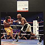 Autographed/Signed Manny Pac-Man Pacquiao vs. Mayweather Boxing 8x10 Photo PSA/DNA COA