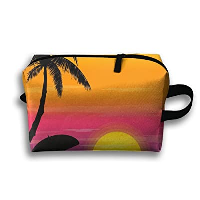 Sunset Coconut Trees Travel Bag Multifunction Portable Toiletry Bag Organizer Storage