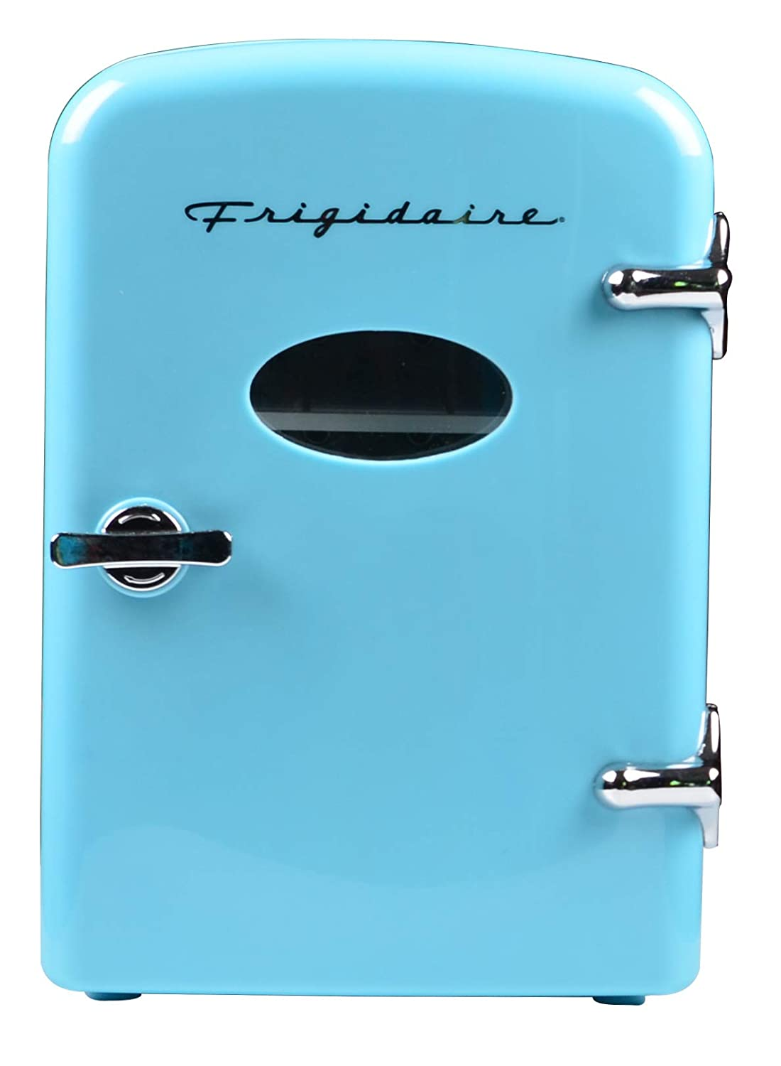 Frigidaire Retro Mini Compact Beverage Refrigerator, Great for keeping office lunch cool BLUE