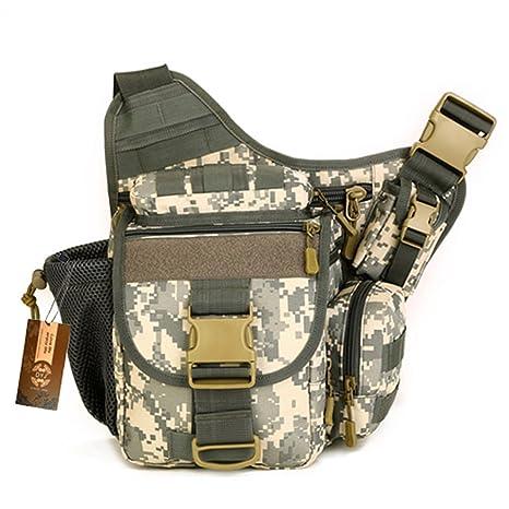 49074ca92920 DYJ Multi-Functional Tactical Camera Messenger Bag Fishing Tackle Bag  Military Shoulder Bag Backpack EDC Sling Pack for Hiking Camping Trekking  Cycling