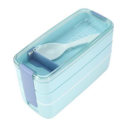 3 Layer Microondas Caja Bento Almuerzo portátil ,Microondas Caja fuerte para bebés sin BPA ,