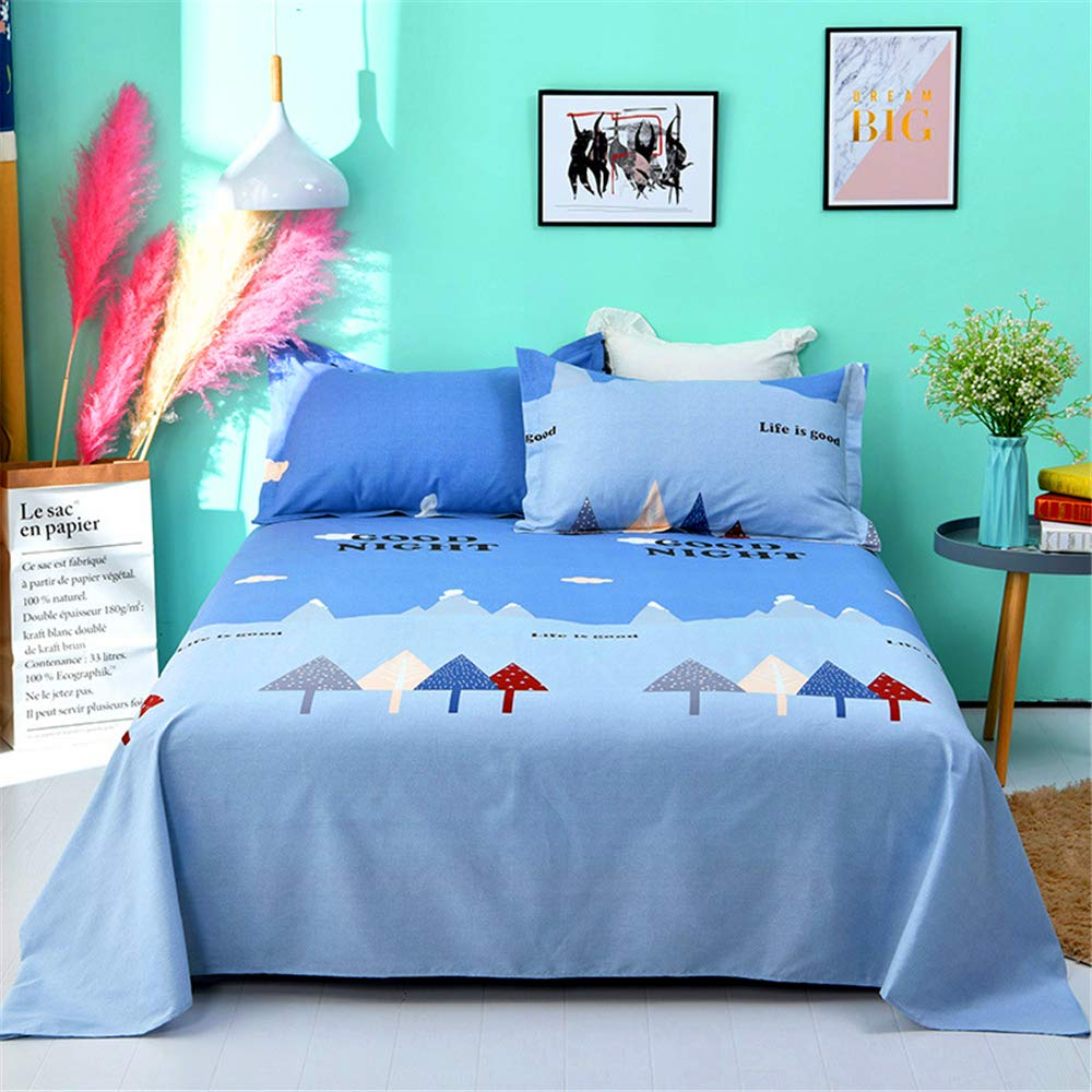 Cotton Sheets Single Piece Cotton Dormitory Twill Cotton 1.5 m 1.8 m2 230 Single Bed with Spring and Summer Jin Yunchunshu 270230cm by iangbaoyo