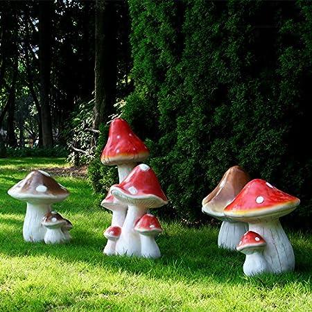 SQBJ La simulación de grandes setas decoración vegetal Shun escultura de jardín jardines exteriores y el paisaje de resina decorativos artesanía,ZH539 Conjunto de setas: Amazon.es: Hogar