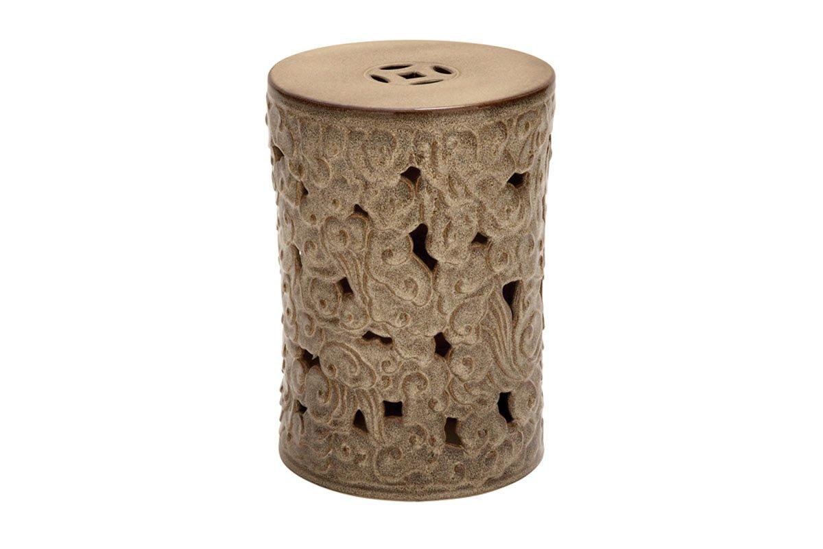 Deco 79 Kicho Ceramic Garden Stool, Brown