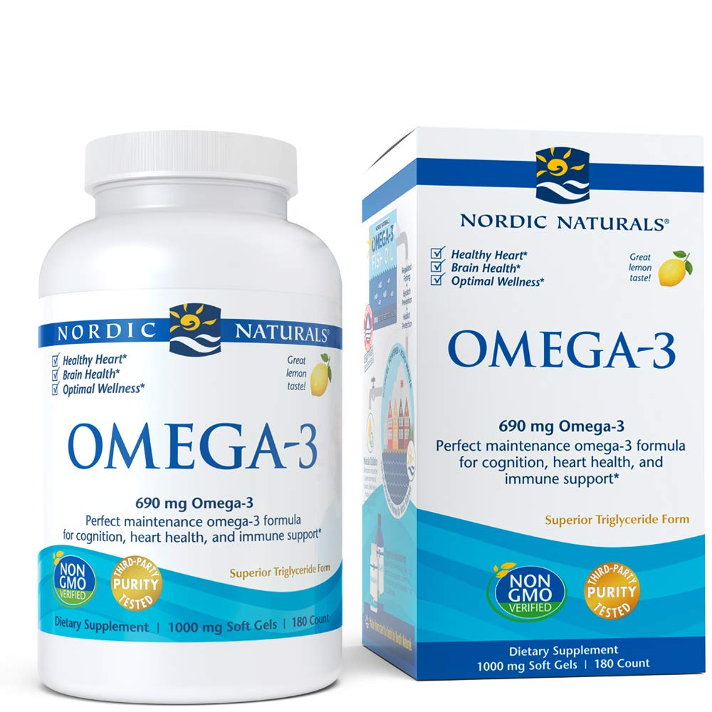Nordic Naturals - Omega-3, Cognition, Heart Health, and Immune Support, 180 Soft Gels by Nordic Naturals