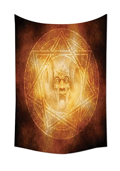 Horror House Decor Tapestry Demon Trap Symbol Logo Ceremony Creepy