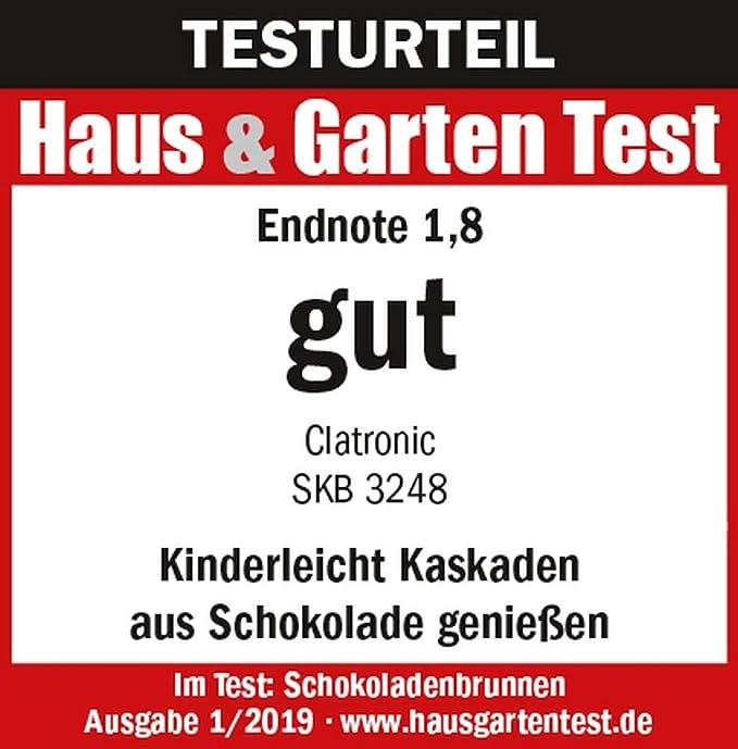 Edelstahl Schokoladenbrunnen Schokobrunnen Font/äne Elektrisch K/äse Frucht-So/ße Barbecue-So/ße Sparsame 170 Watt, 500 g Schokolade, 750 g Kuvert/üre