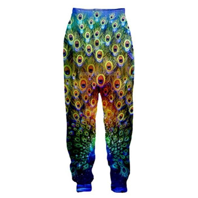 Moda para Hombres Mujeres Baggy Jogger Pants 3D Print Peacock Blueclouds  Pantalones de chándal de Dibujos Animados Hip Hop Pantalones  Amazon.es   Ropa y ... 7dd6c9b33c8