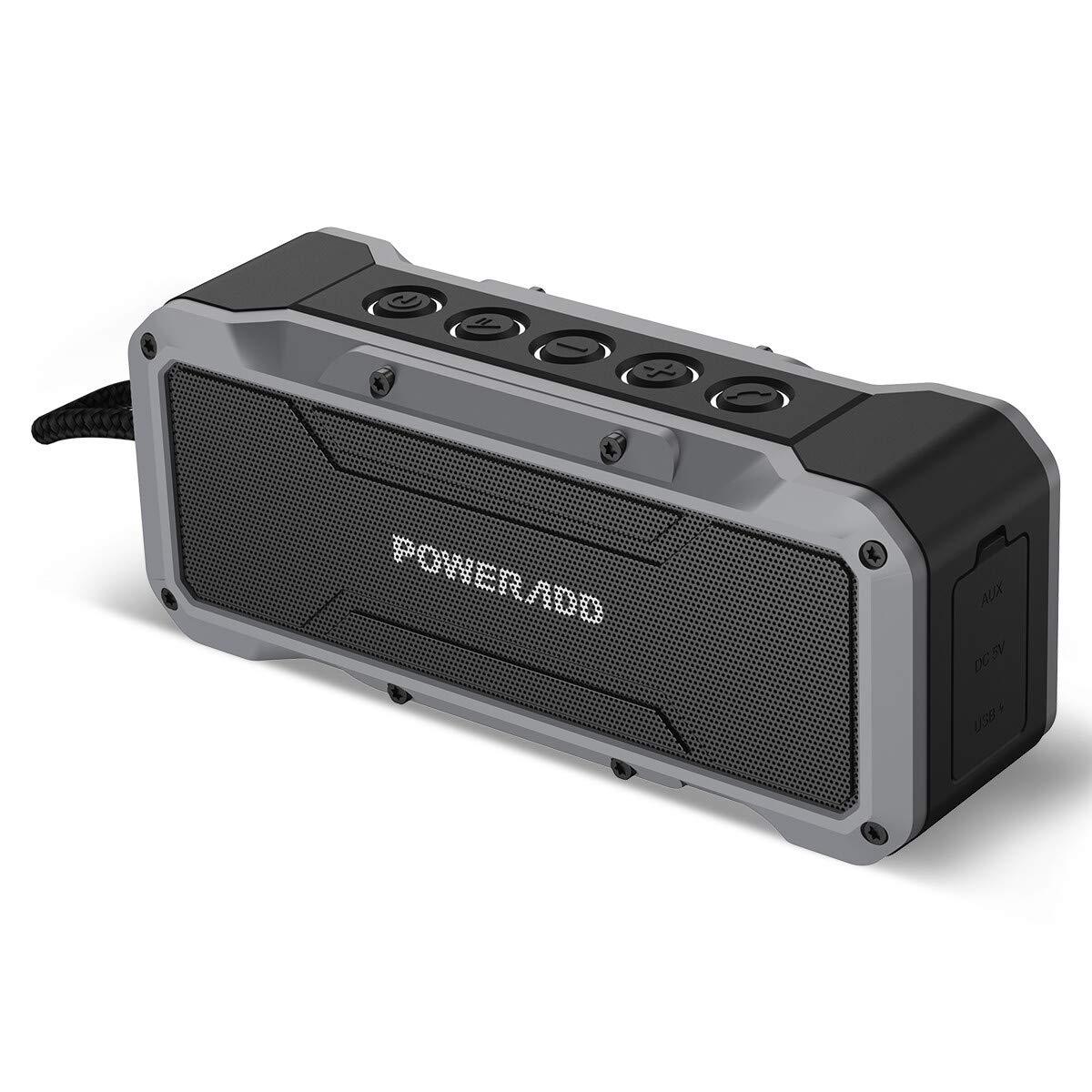 POWERADD Bluetooth Lautsprecher mit 4 StereoTreibern (2X13W+2x5W) Wasserdicht IPX7 tragbare Lautsprecher Außen Bluetooth 4.2/AUX Lautsprecher mit 4000mAh Powerbank