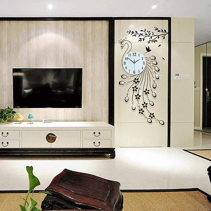 Amazon.com: PHM 3D Wall Clock Modern Design Home Decoration Wall Clock WCLT Peacock Diamond Decoration Wall Clock Modern Design (Color : Black): Home & ...