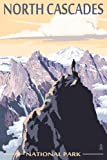 North Cascades National Park, Washington - Mountain Peaks (12x18 Art Print, Wall Decor Travel Poster)