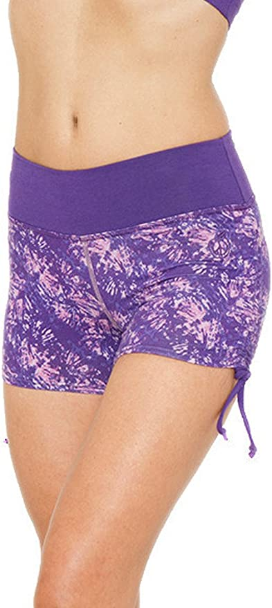 Tie dye shorts with watercolor apple design Shorts leggings with original design for nature lovers.