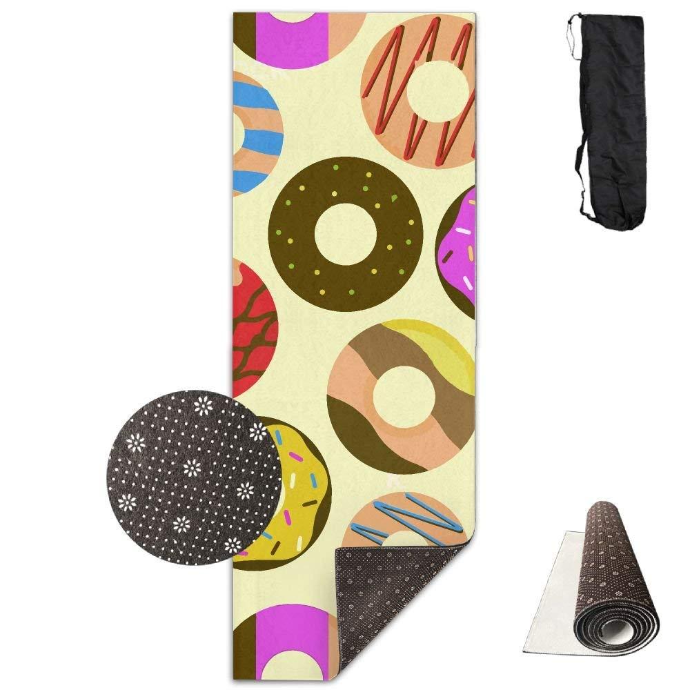 Colorful Donut Sweet Deluxe,Yoga Mat Aerobic Exercise Pilates Anti-slip Gymnastics Mats