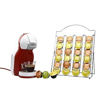 RECAPS Titular de cápsulas de café Nescafé de acero inoxidable para tiendas 24 cápsulas Dolce Gusto: Amazon.es: Hogar