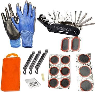 16 en 1 Bicicleta Kit de Reparación,Herramienta de Reparación de Bicicletas Multifuncional,Kit Reparación Pinchazos Bicicleta,Bicicleta Multiusos Herramientas: Amazon.es: Deportes y aire libre