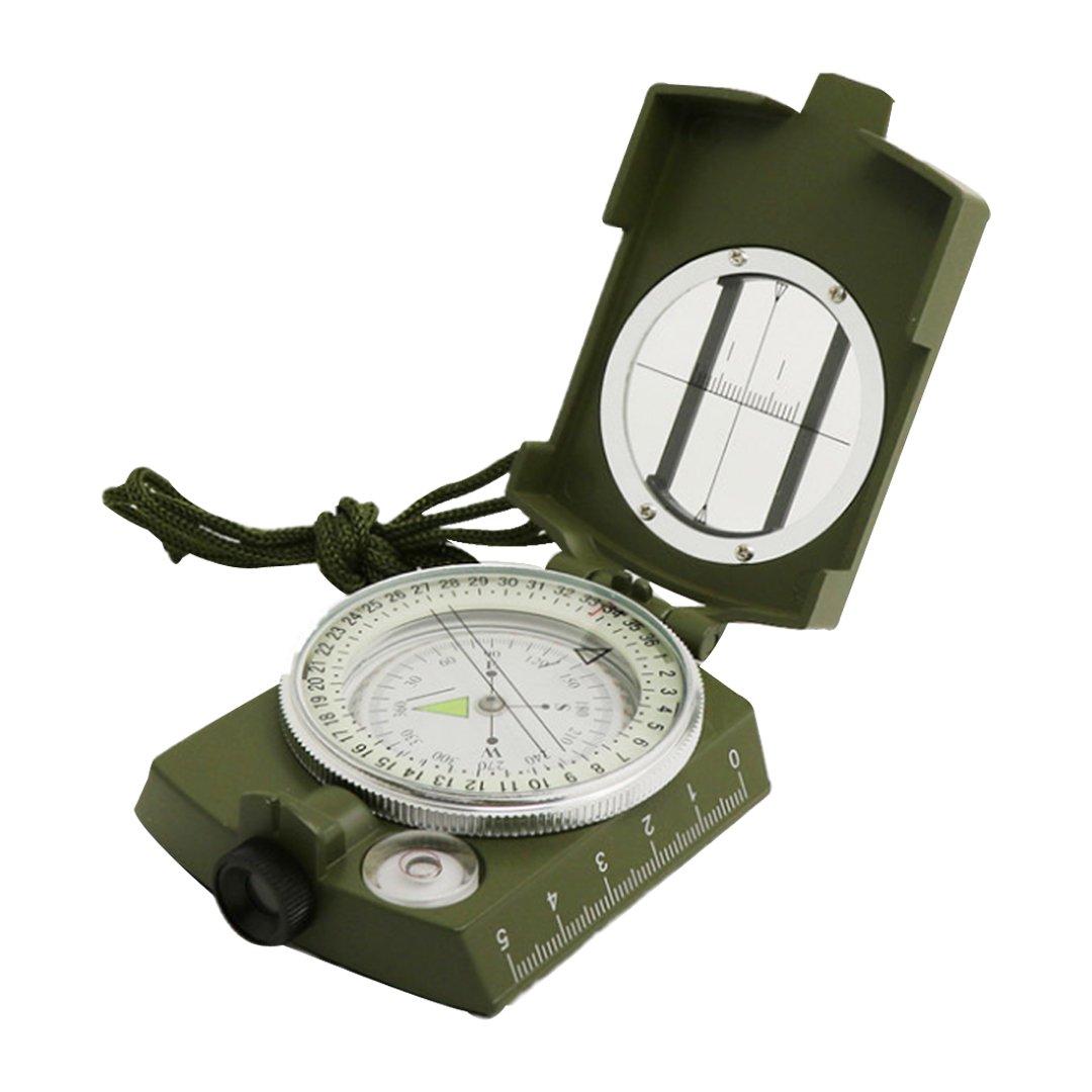 Monique多機能陸軍地質コンパス防水MilitaryメタルSightingコンパスアウトドア活動用 B07728GVSF